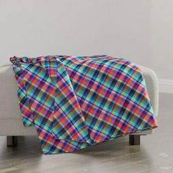 Throw Blanket Madras Plaid Pink Blue Green Tartan Gingham Ch
