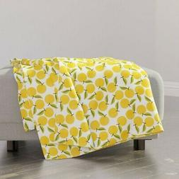 Throw Blanket Peach Peachy Summer Fruit Kitchen Home Nursery