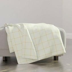 Throw Blanket Plaid Gingham Art Deco Mid-Century Retro Geome