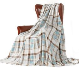 "MERRYLIFE Throw Blanket Plaid Sherpa | 60""90"", ISLAND TRAVEL"