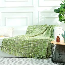 NordECO Throw Blanket Plaid Soft Cozy Microfiber 100% Arylic