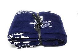 "Vera Bradley Throw Blanket 80"" x 50""  12408-577 ,80x50 ,blue"