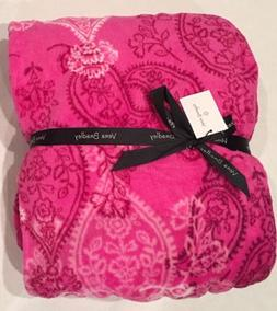 Vera Bradley Throw Blanket Stampled Paisley