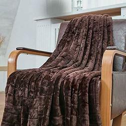 Bertte Throw Blanket Super Soft Cozy Warm Blanket 330 GSM Li