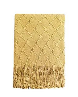 throw blanket textured solid soft