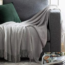 Bedsure Throw Blankets for Couch Soft Knit Woven Blanket 50x