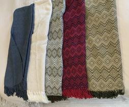 Alpaca Throw Decorative and Warm Blanket  66 x 52