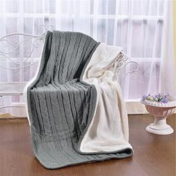 Pure Color Throws Blankets Grey - MeMoreCool 100% Polyester