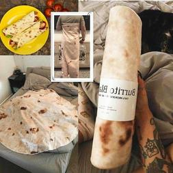 "Tortilla Blanket Burrito 60"" Blanket - Round Corn and Flour"