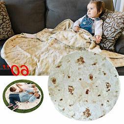 """Tortilla Blanket Burritos 60"""" Blankets Round Corn and Flour"""