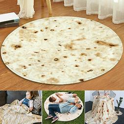 "Tortilla Blanket Burrito 48"" Blankets Round Corn and Flour T"