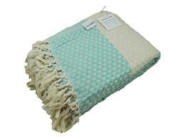 Turkish Throw Blanket Made from 100% Turkish Cotton, Large L