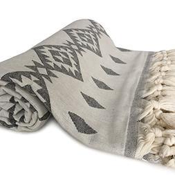 ZesteDesign Large Turkish Cotton Bath Towel Tribal Aztec Des