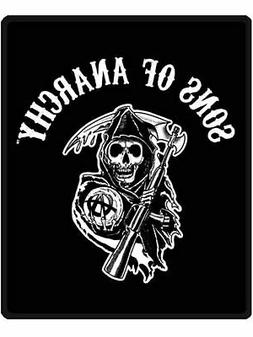 "Sons of Anarchy Twin Blanket Throw ""Reaper"""