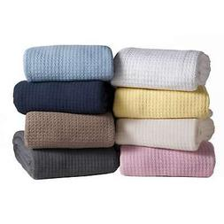 King Size Pink Grand Hotel 100% Cotton Throw Blanket Ultra P