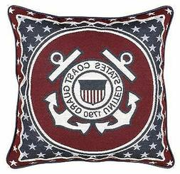 Simply Home U.S. Coast Guard Tapestry Throw Pillow