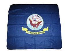 U.S. Navy Ship Naval Crest Emblem 50x60 Polar Fleece Blanket