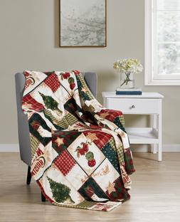 Ultra Plush Merry Christmas Plaid Farmhouse Hypoallergenic F