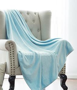 Elegant Home Ultra Soft Cozy Warm Plush Solid Fleece Throw B