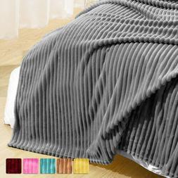 Ultra Soft Warm Flannel Fleece Throw Blanket Reversible Faux