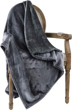 Bertte Ultra Velvet Plush Super Soft Decorative Throw Blanke