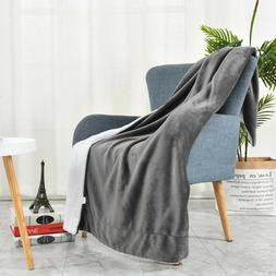 100% Hypoallergenic Reversible Super Soft Fleece Sofa Throw
