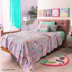 UNICORN CUTE Fleece LIGHT Blanket SOFT WARM GIFT Comforter 1