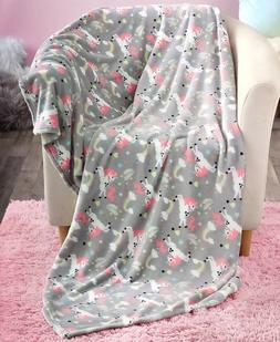 "Unicorn Novelty Plush Throw Blanket Kids Bedroom Decor 50"" x"