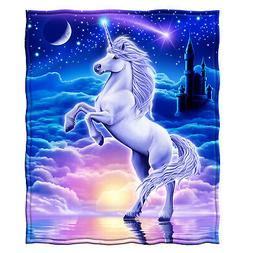 Dawhud Direct Unicorn Super Soft Plush Fleece Throw Blanket