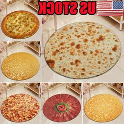 US STOCK Tortilla Blanket Burrito Pizza Blanket -Corn and Fl