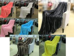 Velvet Luxe Throw Blanket Heavenly Soft Reversible Queen Mul