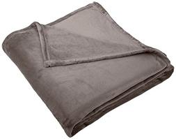 "Pinzon Velvet Plush Throw Blanket, 50"" x 60"", Gray"