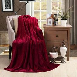 HYSEAS Velvet Plush Throw Blanket - Solid