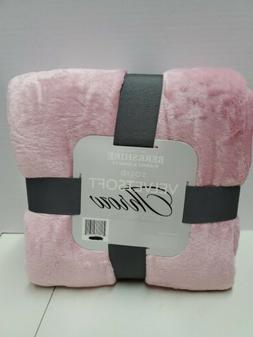 "Berkshire Blanket Velvet Soft 60""x 70"" Throw  Pink"