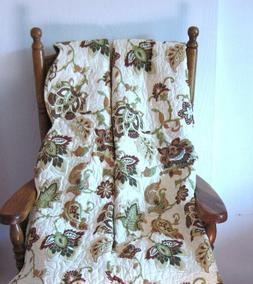 Victorian Heart 100% Cotton Lap Quilt Throw Coverlet Blanket