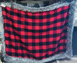 Vintage Collection Artems Red Checkered Gingham Throw Blanke