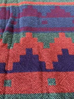 """Vintage Southwest Aztek Throw Blanket 50 X 60"""" New -woven"""