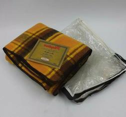 PLAYTIME Vintage Throw Blanket Robe Retro 70s Plaid NOS w/ B