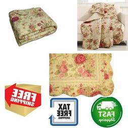 Vintage Style Throw Quilt Cotton Sofa Chair Nap Blanket Reve