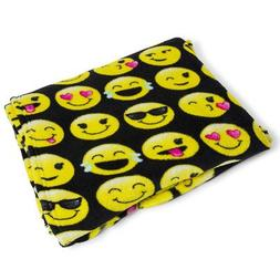 Warm and Snuggly Emoji Throw Blanket  50 x 60 inches With al