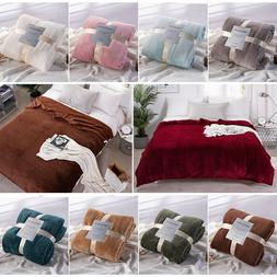 Warm Super Soft Throw Flannel Bedding Blanket Sofa Bed Twin