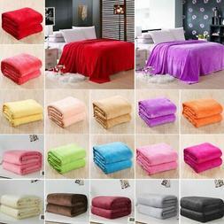 Warm Throw Super Soft Plush Velvet Blanket Sofa Home Bed Fle