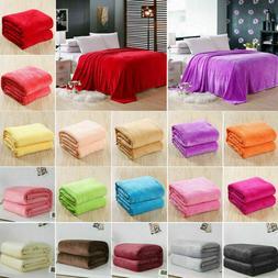 Warm Throw Super Soft Plush Velvet Blanket Sofa Home Bed Win