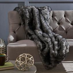 Warrin Furry Glam Faux Fur Throw Blanket by Christopher Knig