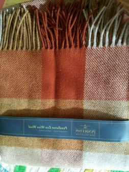Pendleton washable eco-wise wool copper/amber throw blanket