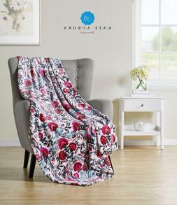 Kate Aurora Watercolored Floral Ultra Plush Oversized Fleece