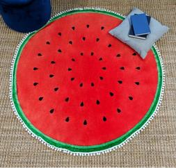 "Watermelon Round Printed Blanket Throw 56"" Super Soft by Nor"