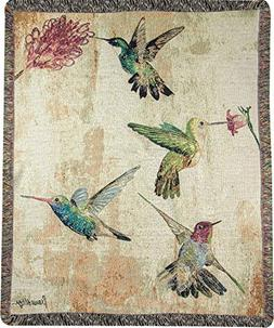 Manual Woodworkers and Weavers Hummingbird Floral Tapestry T