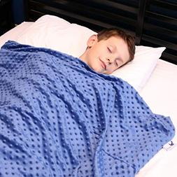 Huggaroo Children's Weighted Blanket with Plush Duvet Cover,