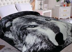 Hiyoko Wolf Animal Mink Blanket Throw Bedspread Comforter Co